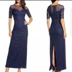 Eliza J Illusion Top Lace Evening Gown SZ 6P NWT